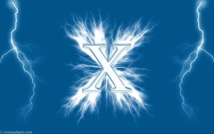 The X and flashes by Cifro
