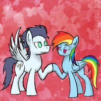 30 minute challenge - Soarin and Rainbow Dash by ToMaz777