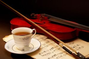 Music and Tea by AmblingPhotographer