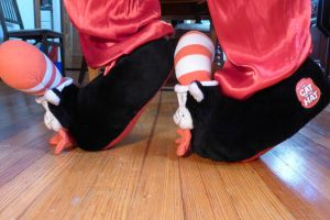 Cat in the Hat slippers, side by ExileLink