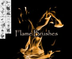 Flame Brushes by SugarBreezy