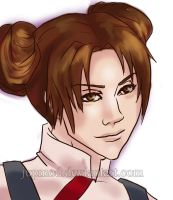 Tenten Portrait Close-up by JuPMod