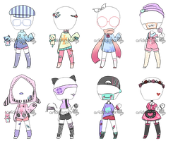 [OPEN 1/8] Pastel Outfit Adopts by aridesunya
