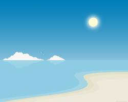 Simple Beach by lassekongo83