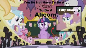 Alicorns DO NOT have to be Princesses - ScreenShot by NekoMellow