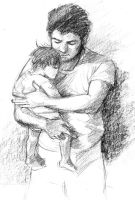 Father and Child by hellangel1126