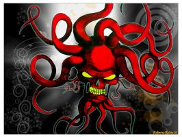 red bad octopuss by osodelpan