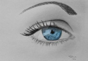 Eye study by IsschaI
