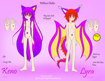 Human Style- Keno and Lyra Reference basics by KenotheWolf