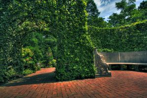 Longwood HDR Archway by beanhugger