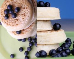 +32 Crumpets with blueberries by Jezobel