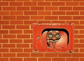 a face in the wall by awjay