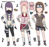 Naruto Female Adoptables I by MayaNara
