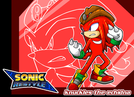 Sonic Restyle! Knuckles by v-16