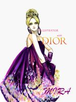 Illustrator with Dior by MillaMashiro