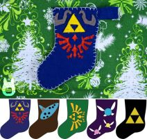 Zelda Mini Stocking Ornaments (Tutorial) by studioofmm