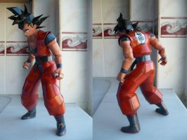 Dragonball-Son Goku Papercraft by savaskul