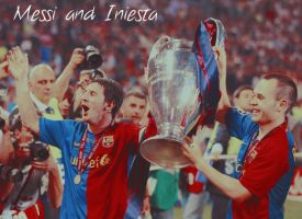 Messi and Iniesta blend by sexylove555
