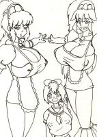 Milk maids and ChiChi Chan by CrazyCowProductions