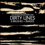 Dirty Lines Brushes by Leichnam