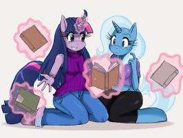 MLP: Twilight and Trixie by ss2sonic