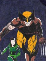 Logan and Rogue by Roguey-roo