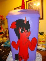 Unicorn trash can for dad's friend by Pnoog2000