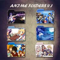 Anime Folder ICons v.1 by Z3rO-99