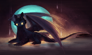 Toothless june 25 daily sketch by Sakurabe