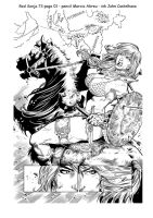 Red Sonja 73 pg 01 (ink) by johncastelhano