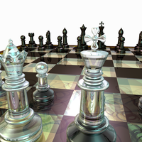 Chess Set Created in Blender 2 by BraveSirKevin