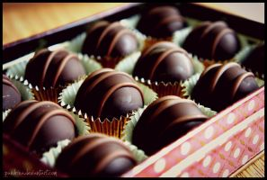Dark Chocolate Truffles by pandrina