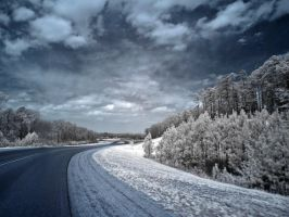 Infrared Road by blackismyheart90