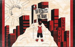 The Reckless And The Brave cover design by FISHYANTICS