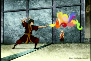 Zuko Bending Dragon Fire by Rckrgrl29