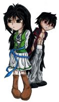 Lynxie and Kaze by Kalooeh