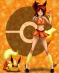 Flaira Flareon by HaruShadows