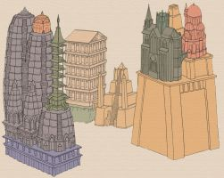 Three Towers by TeamSmithy