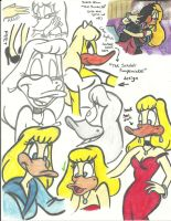 Melissa Duck sketches by brittinroberts
