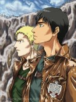 SNK - Bertholdt and Reiner by Hanatsuki89
