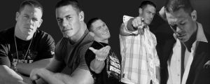 Black and White Cena banner by KymmieCup