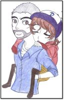 The Walking Dead~ Lee and Clementine by Princess-Riko