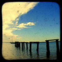 TtV Old Rustic Wooden Jetty by HeyHarriet