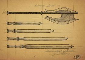 Neranian and Iltherian Blades by EpicTones