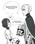 MIRA stormtrooper meets Captain Isabella by StrawberryLoveU