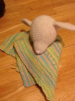 Lamb security blanket by PuzzledShorty