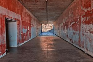 California War Tunnel - Exclusive Blood Red HDR by somadjinn
