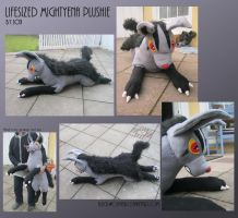 Lifesized Mightyena Plushie by Samurai-Akita
