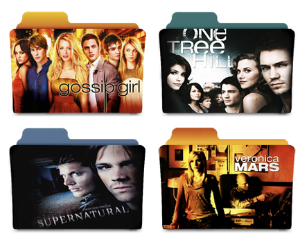 Television Folders - The CW by katiejobug