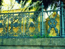 Gate of the cemetery 2 by FuriarossaAndMimma
